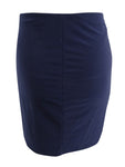 B Darlin Juniors' Solid Skirt 11/12, Navy