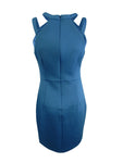GUESS Women's Caged Scuba Bodycon Dress (4, Sapphire)