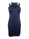 GUESS Women's Caged Scuba Bodycon Dress (2, Navy)