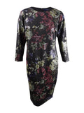 Rachel Rachel Roy Women's Plus Floral Printed Sheath Dress (16W, Black Combo)
