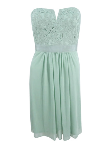 Adrianna Papell Women's Strapless Lace Dress