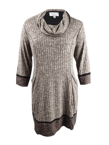 Robbie Bee Women's Plus Size Colorblocked Sweater Dress