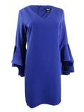 MSK Women's Bell-Sleeve Shift Dress 6, Blue