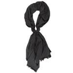 Charter Club Women's Black / Gray Reversible Wrap Shawl Scarf Fashion Accessory
