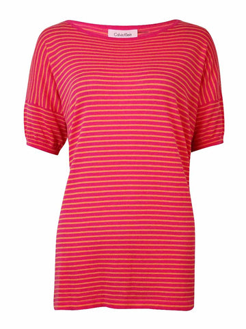 Calvin Klein Women's Striped Knit Dolman Cotton Top