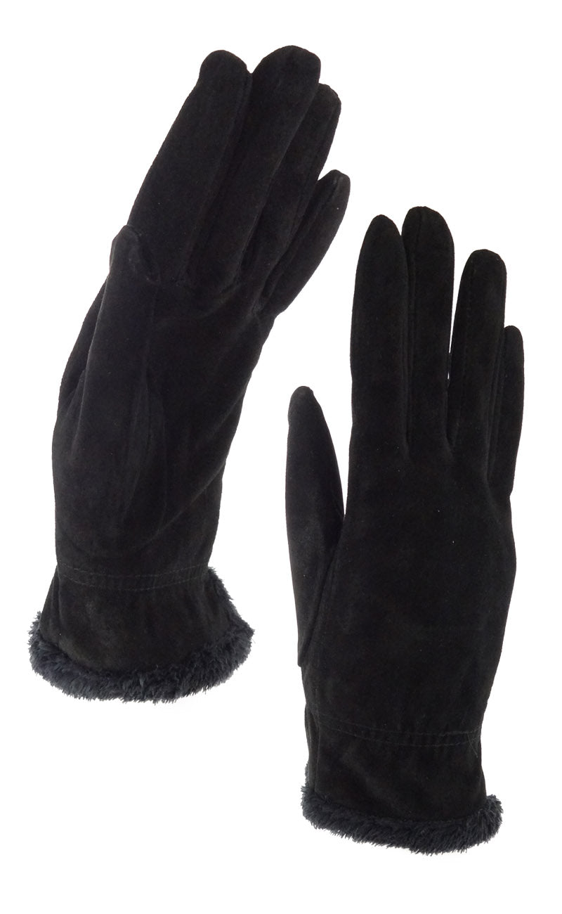 Isotoner womens leather gloves with fleece lining - Isotoner Women S Signature Microluxe Casual Suede Gloves