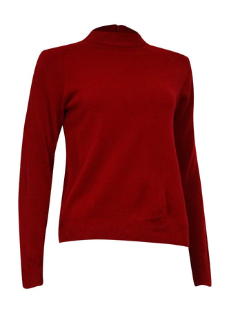 Karen Scott Women's Semi Zipped Mock Turtleneck Sweater