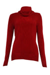 Karen Scott Women's Long Sleeve Cable Detail Sweater