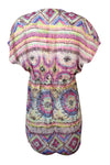 Miken Women's Printed V-Neck Smock Swim Cover