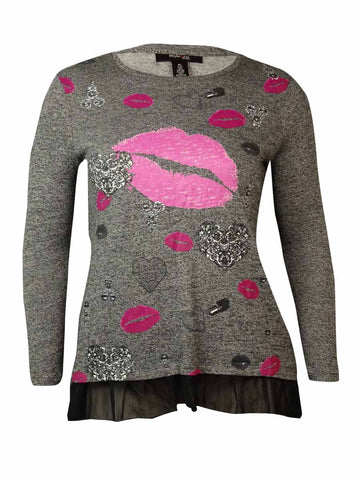 Style & Co. Women's Lipstick Kiss Sweater