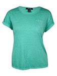 Style & Co. Women's Pocketed Solid Color Cotton Blend Top