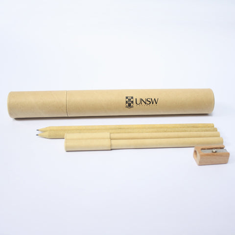 UNSW Fiji Cardboard Tube Pen & Pencil Set