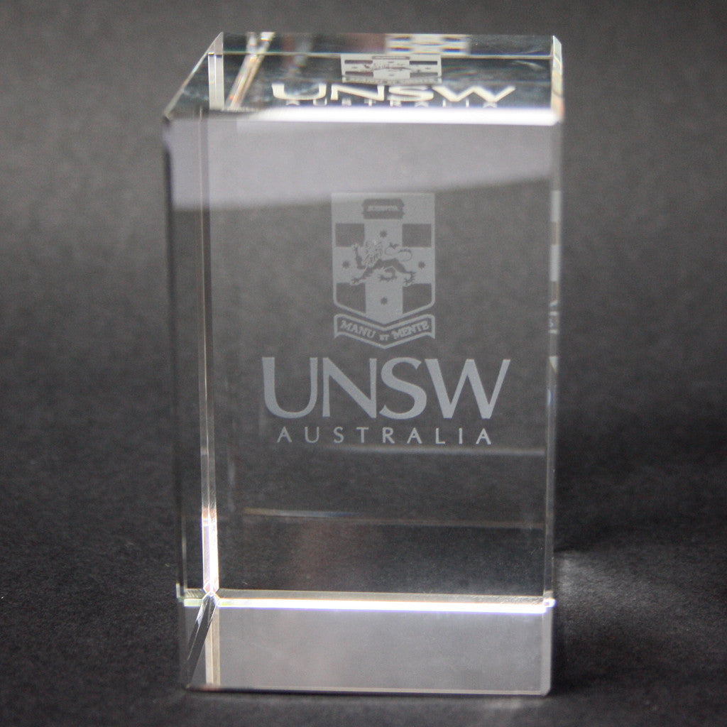 UNSW Glass Cube Paperweight