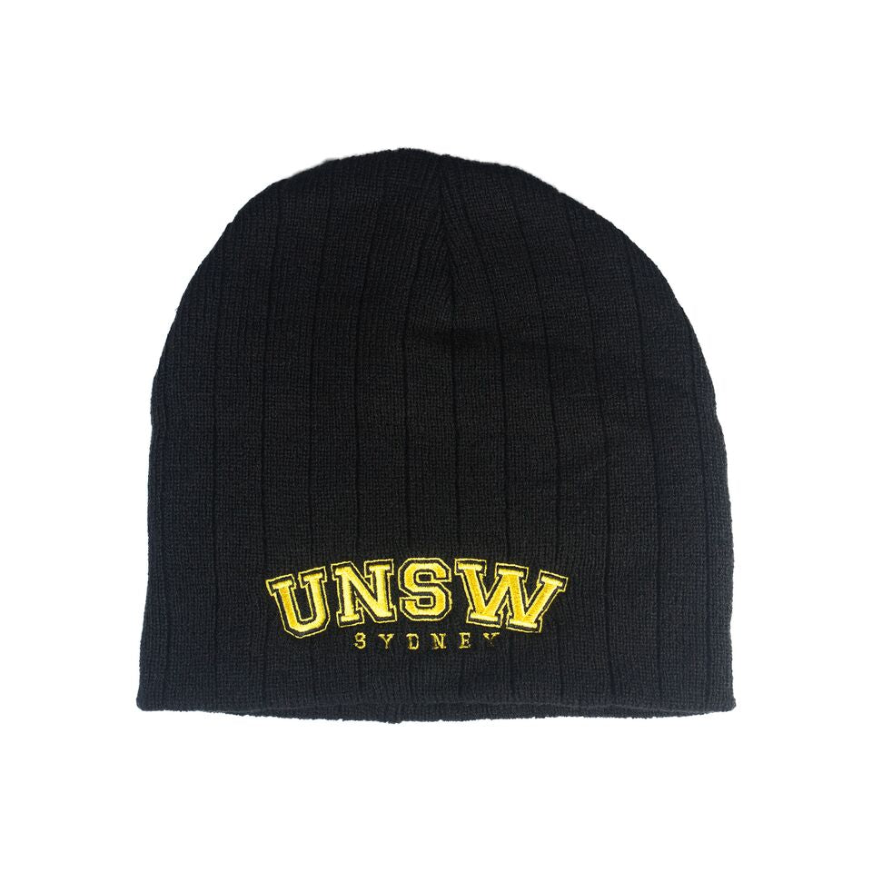 UNSW Cable Knit Beanie - Black