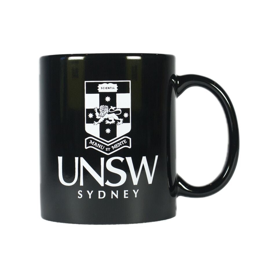 Coffee Mug - Black With White UNSW Crest