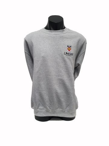 UNSW Embroidered Crew Sweatshirt - Grey