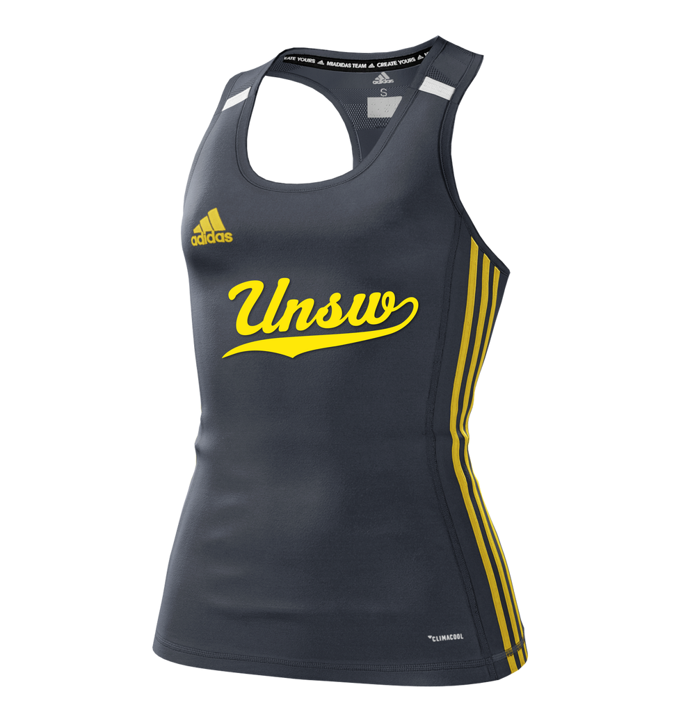 UNSW + Adidas Women's Charcoal Tank