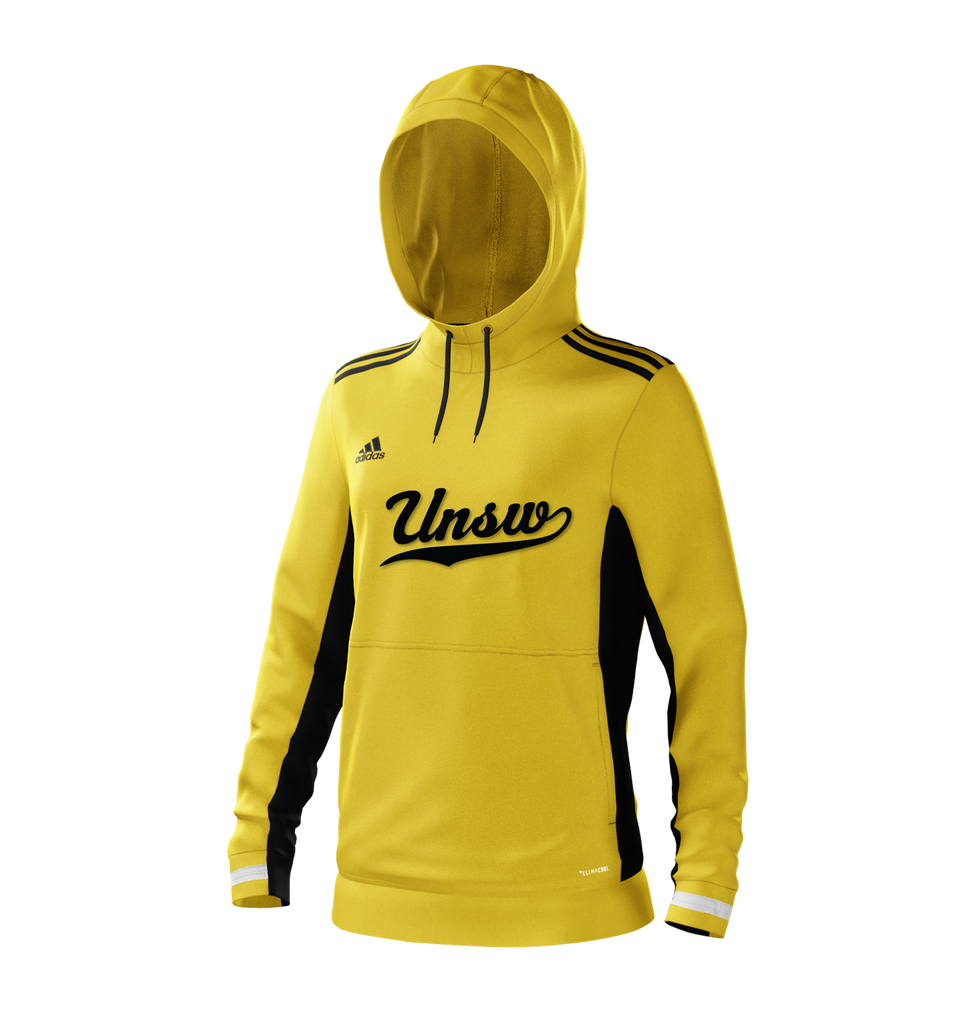 UNSW + Adidas Women's Yellow Script Hoodie
