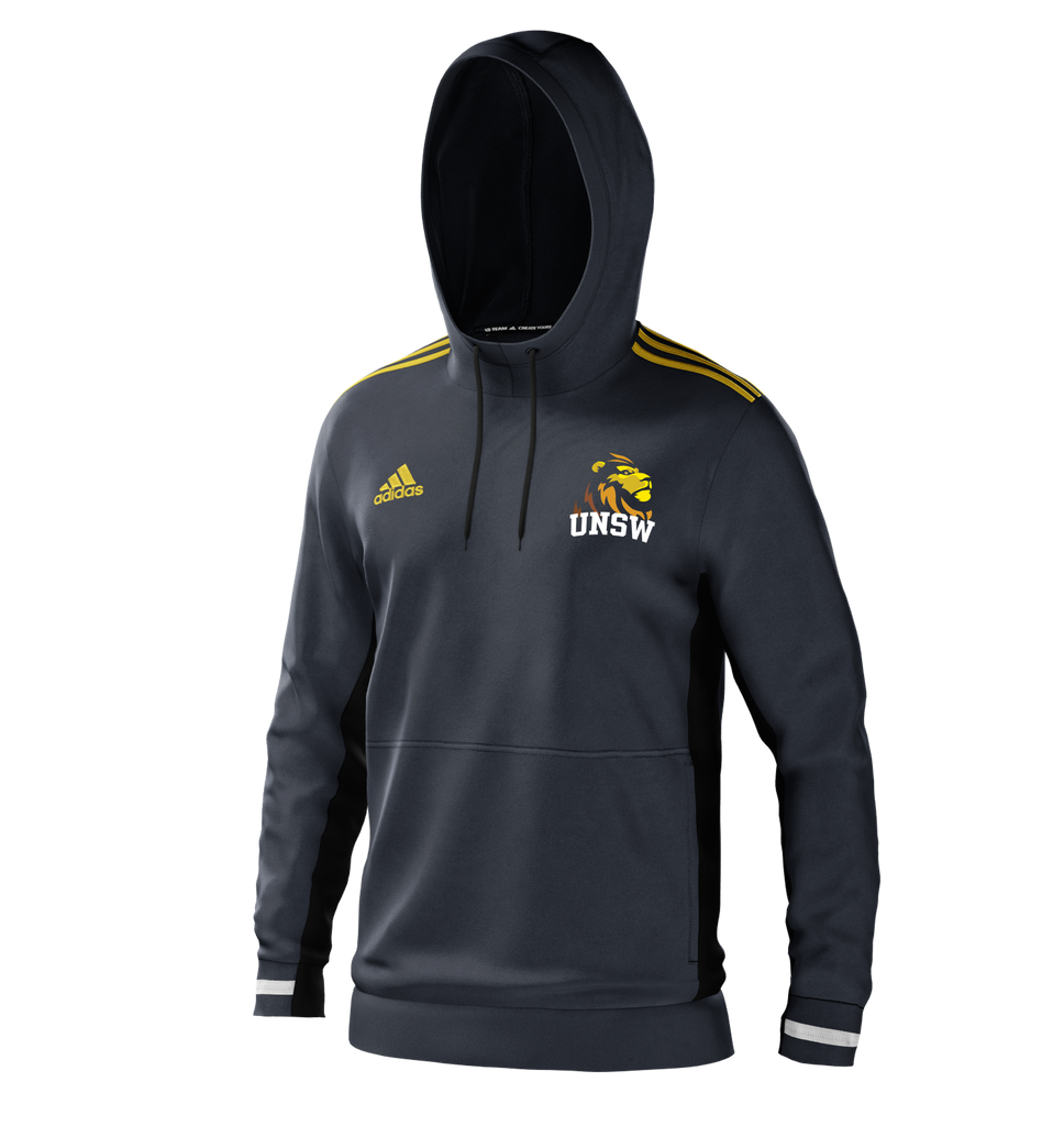 UNSW + Adidas Men's Charcoal Lion Hoodie