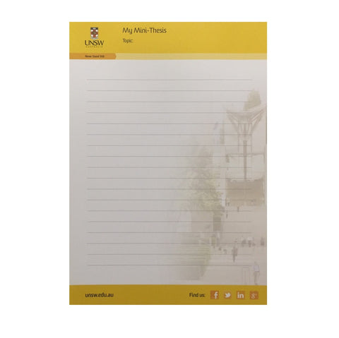 UNSW Australia- A5 Notepad