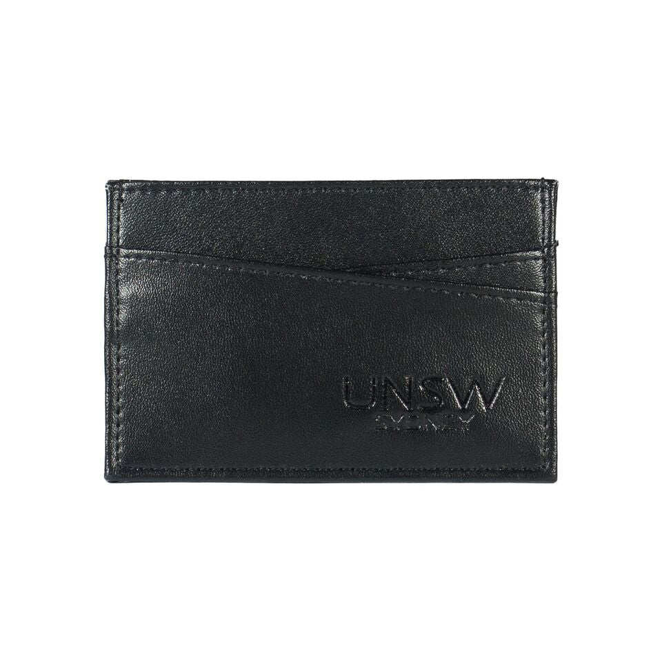 UNSW Embossed Leather Credit Card Wallet