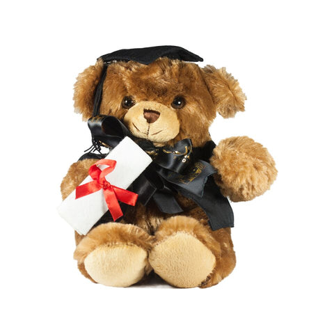 Graduate Bear - Medium Brown