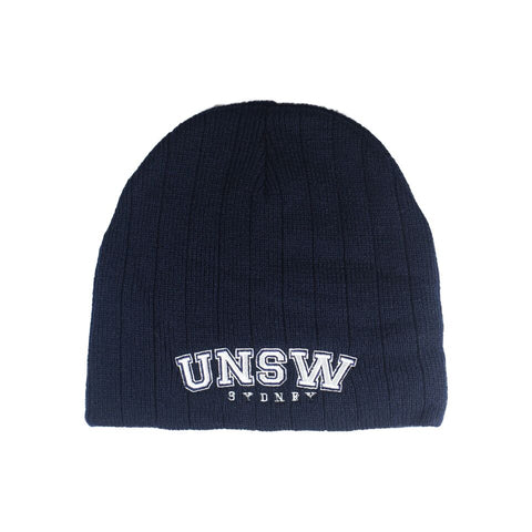 UNSW Cable Knit Beanie - Navy