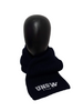 UNSW Cable Knit Scarf - Navy & White