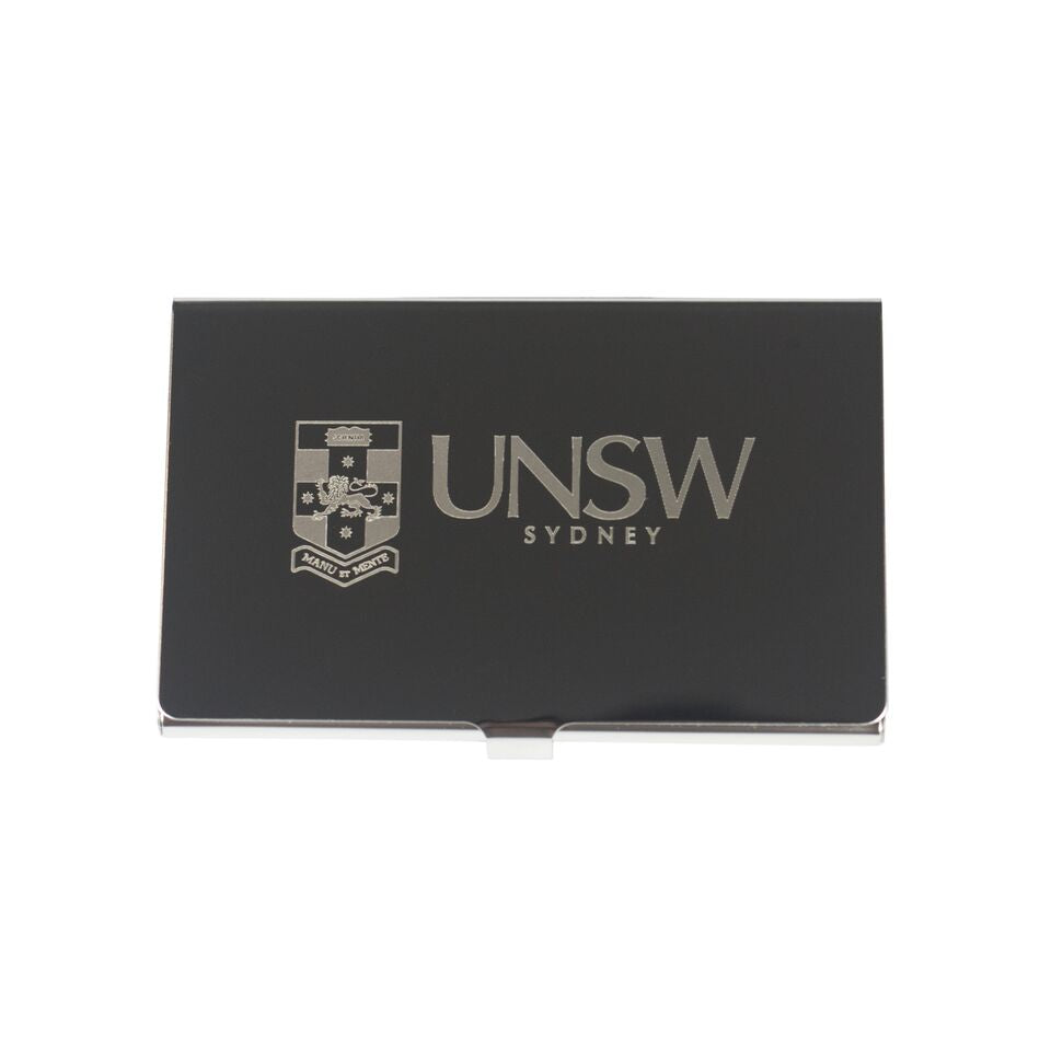 UNSW Deluxe Pocket Business Card Holder