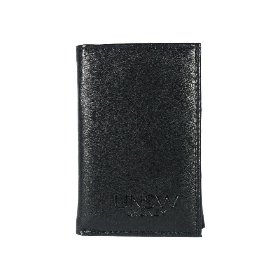 UNSW Embossed Leather Tri-fold Wallet
