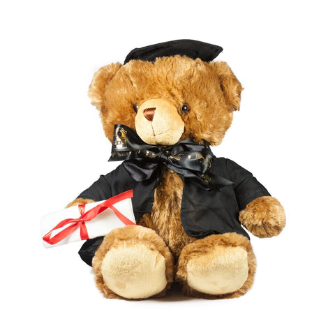 Graduate Bear - Large Brown