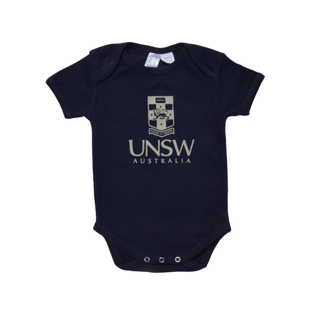 UNSW Kids Short Sleeve Romper - Navy