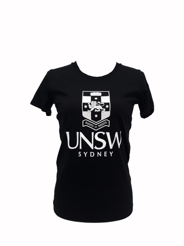 UNSW Women's Large Logo Wafer Tee - Black