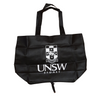 UNSW Black Zippered Tote Bag