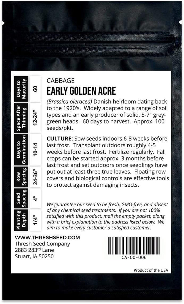Early Golden Acre Cabbage Seeds