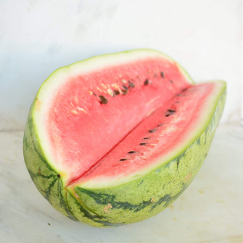 Jubilee Watermelon sliced with seeds showing