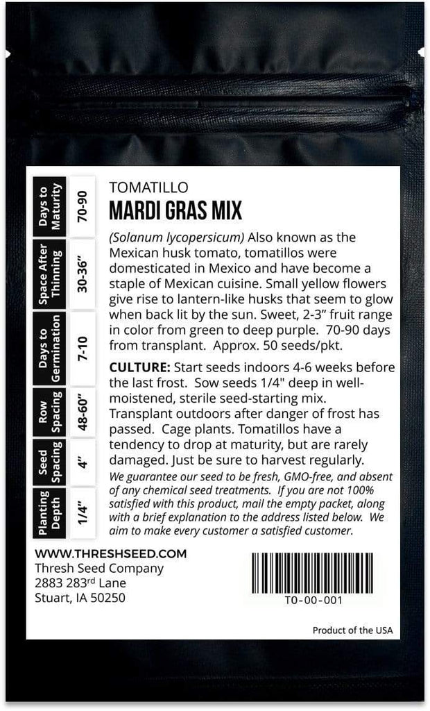 Mardi Gras Tomatillo Mix Seeds