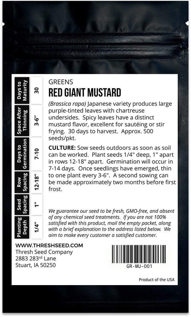 Red Giant Mustard Seeds
