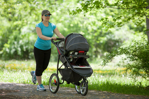 walking exercise with baby