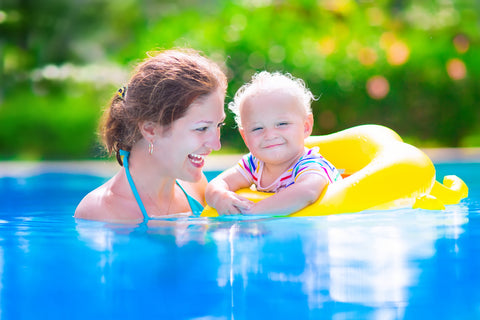 swimming exercise with baby