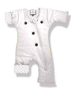 Gray with Orange Crosses CribCulture SleepSuit® with SleepCool System™