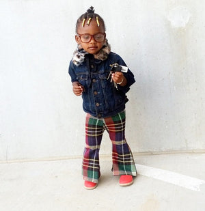 Plaid Fly Bell Bottoms for toddler