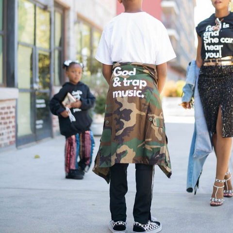 Kids Camouflage Jacket - God + Trap Music