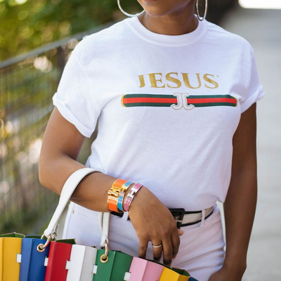 Jesus over Gucci - Short Sleeve T-Shirt - KingandLola
