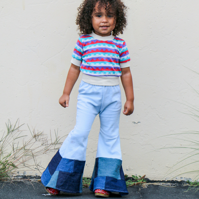 Bell Bottoms Patchwork Vintage - KingandLola