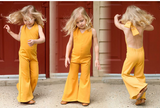 Thelma Bell Bottom Jumpsuit for Toddler/Kids by King and Lola