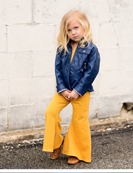 Thelma Bell Bottom Jumpsuit for Toddler/Kids by King and Lola - KingandLola