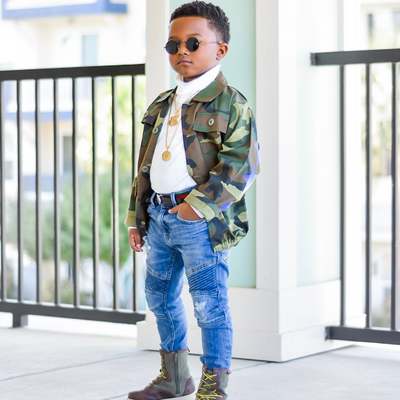 Kids Camouflage Bomber Jacket - Exclusive Stars and Stripes - KingandLola