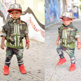 Kids Camouflage Bomber Jacket  Unisex Toddler-Kids size 2T to 12