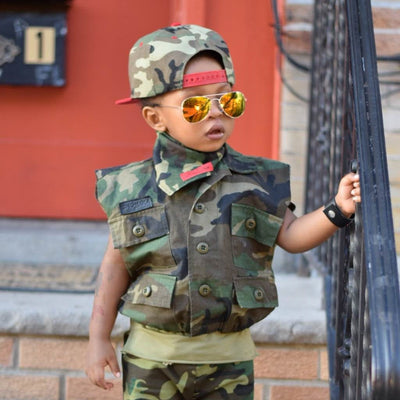 Camouflage Bomber Vest  Unisex Toddler-Kids size 2T to 12 - KingandLola